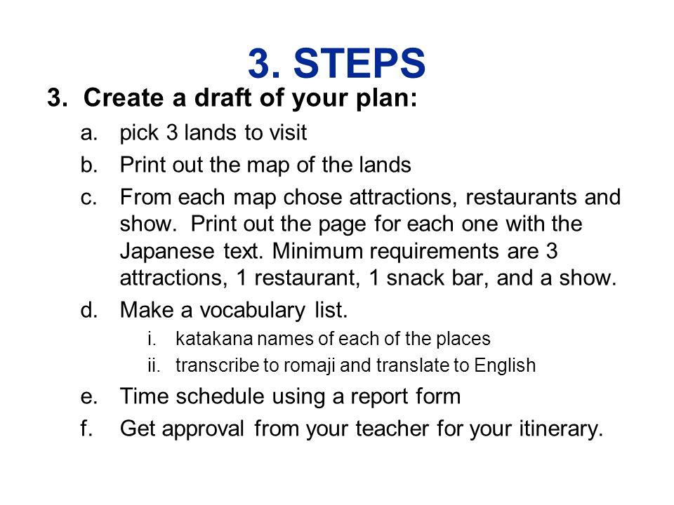 3. STEPS 3.