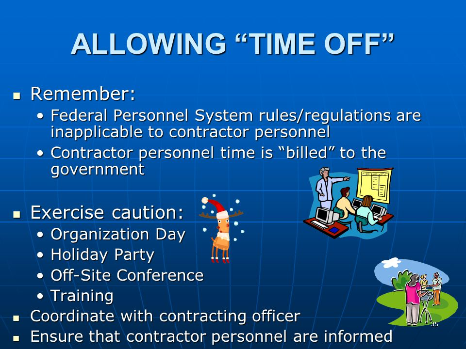 ALLOWING TIME OFF 34
