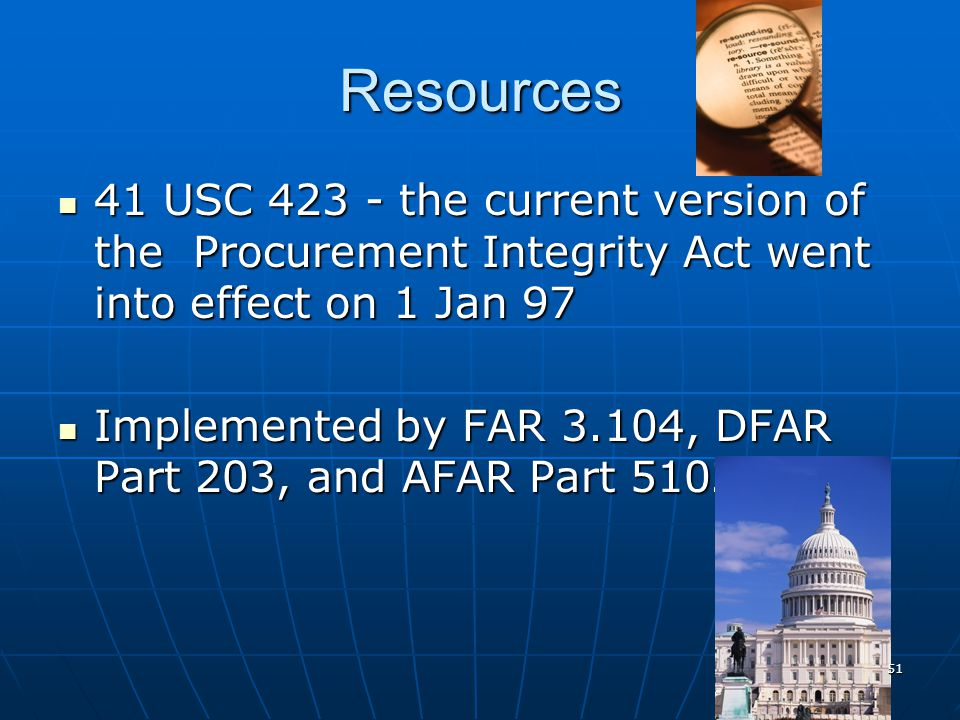 Procurement Integrity Act 50