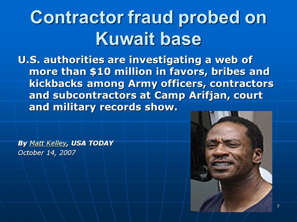 Contractor fraud probed on Kuwait base U.S.