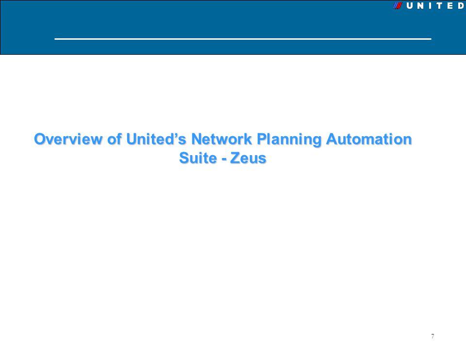 7 Overview of Uniteds Network Planning Automation Suite - Zeus