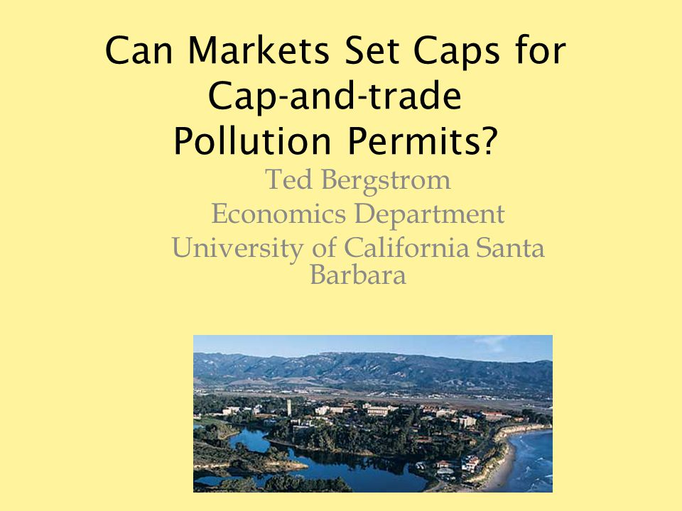 Can Markets Set Caps for Cap-and-trade Pollution Permits.