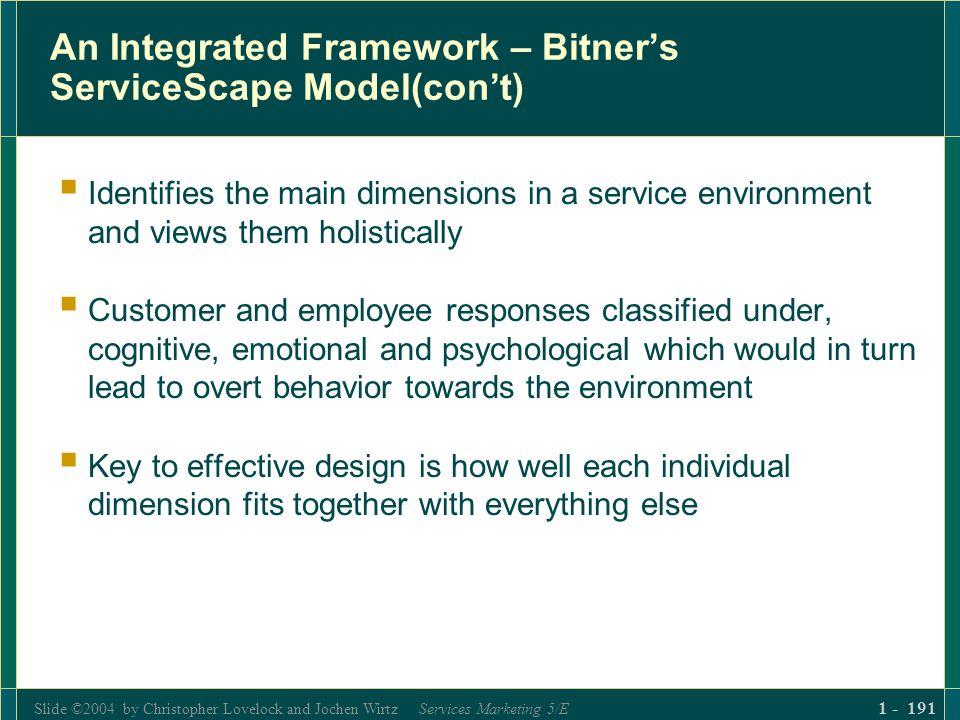 Slide ©2004 by Christopher Lovelock and Jochen Wirtz Services Marketing 5/E 1 - 191 An Integrated Framework – Bitners ServiceScape Model(cont) Identif