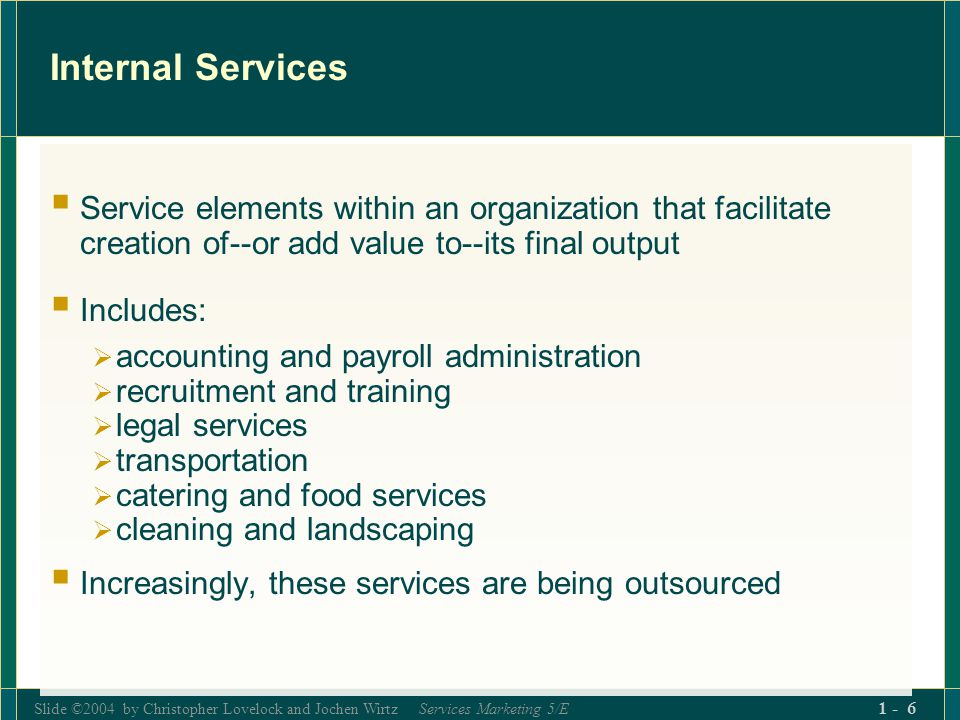Slide ©2004 by Christopher Lovelock and Jochen Wirtz Services Marketing 5/E 1 - 7 Major Trends in Service Sector (Fig.