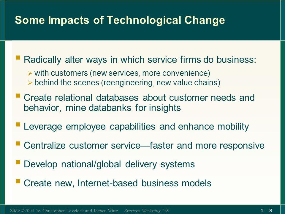 Slide ©2004 by Christopher Lovelock and Jochen Wirtz Services Marketing 5/E 1 - 219 Control vs.