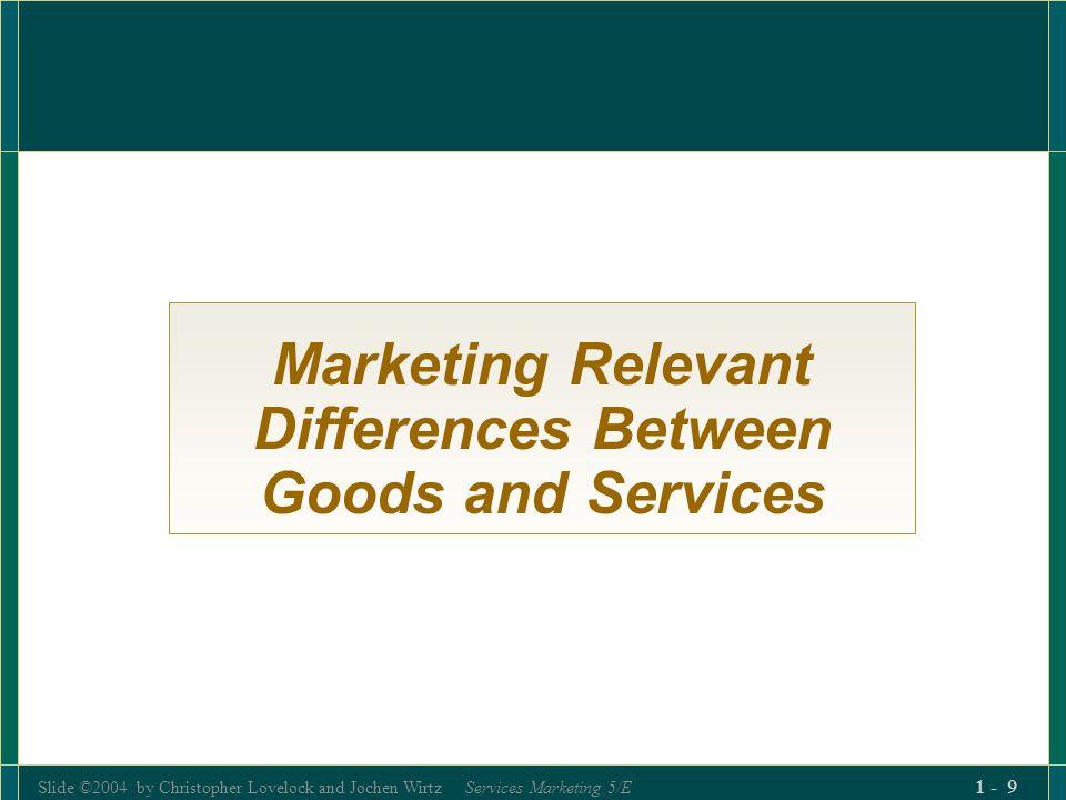 Slide ©2004 by Christopher Lovelock and Jochen Wirtz Services Marketing 5/E 1 - 140 Place vs.