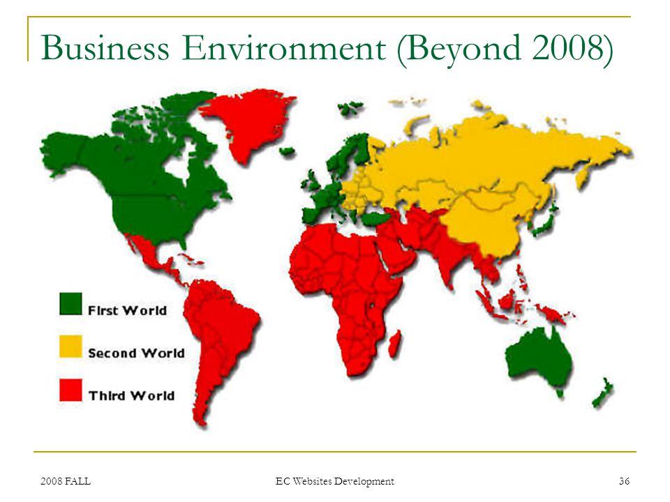 2008 FALL EC Websites Development 36 Business Environment (Beyond 2008)