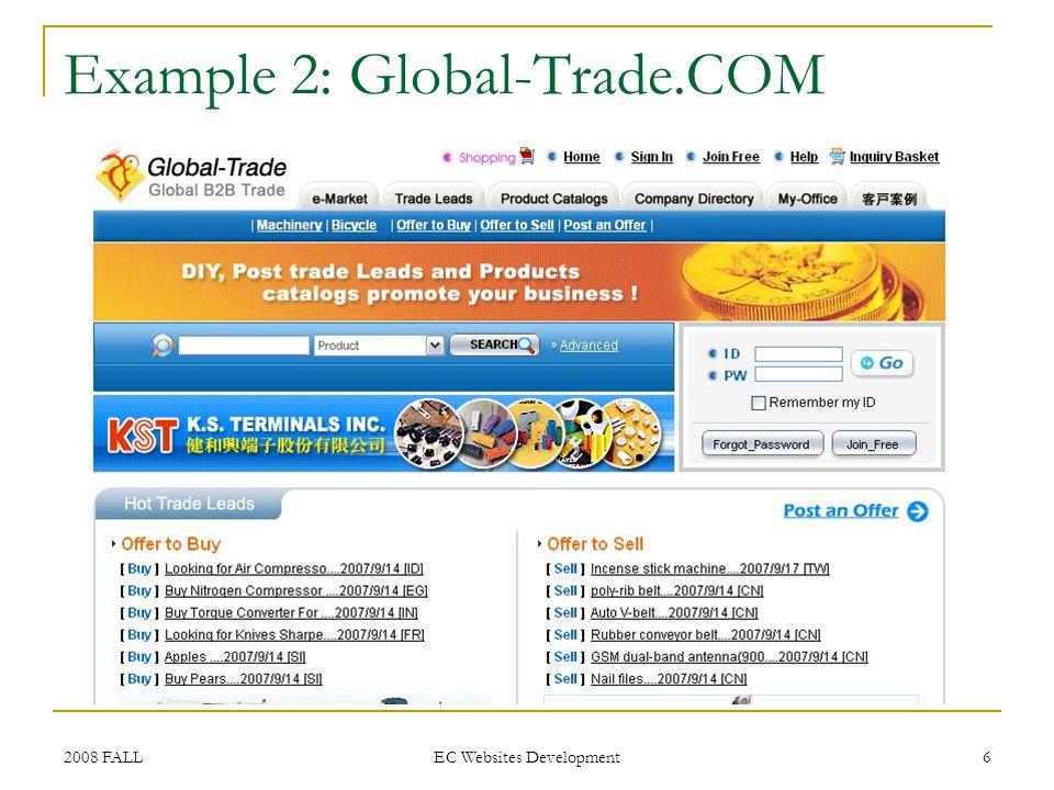2008 FALL EC Websites Development 7 Example 3: iSteelAsia.COM