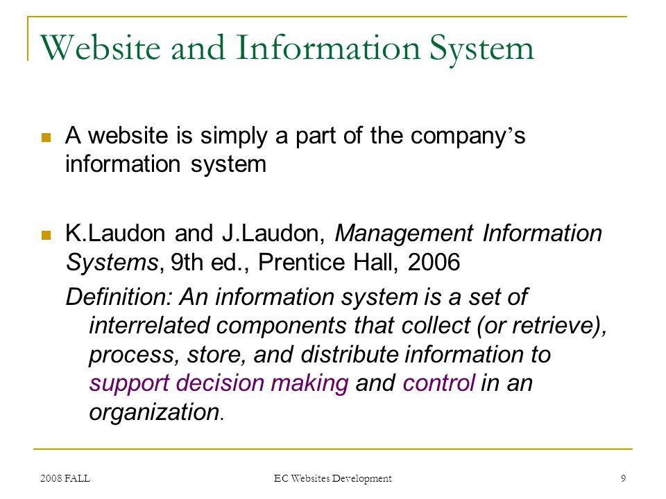 2008 FALL EC Websites Development 80 Technically How.