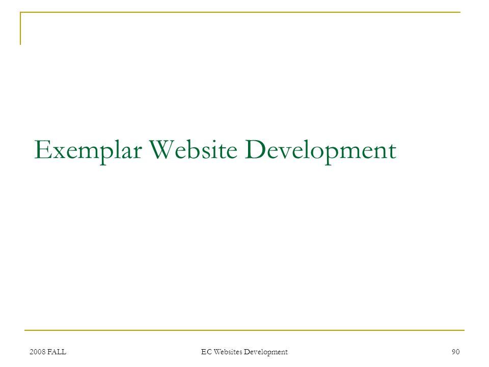 2008 FALL EC Websites Development 90 Exemplar Website Development