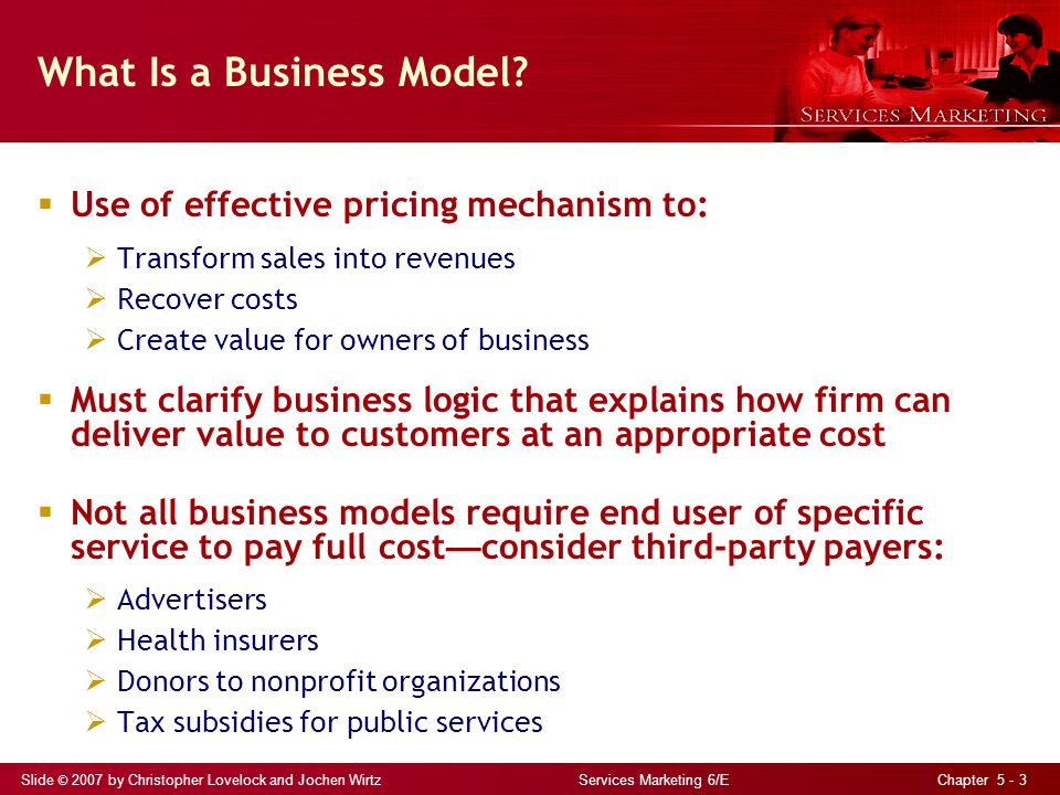 Slide © 2007 by Christopher Lovelock and Jochen Wirtz Services Marketing 6/E Chapter 5 - 24 Designing Fairness into Revenue Management Design clear, logical, and fair price schedules and fences Use high published prices and present fences as opportunities for discounts rather than quoting lower prices and using fence as basis to impose surcharges Communicate consumer benefits of revenue management Use bundling to hide discounts Take care of loyal customers Use service recovery to compensate for overbooking
