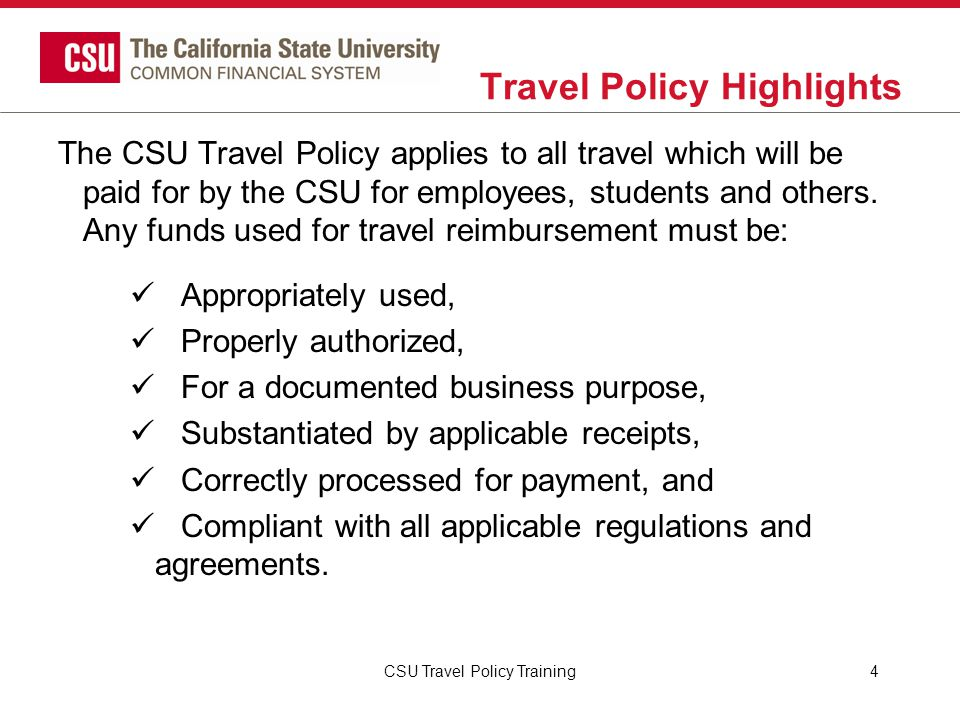 CSU Travel Procedures Transportation Surface Transportation and Extended Travel….