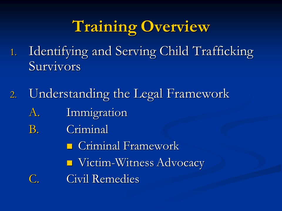 Dimensions of Child Trafficking Adapted from: CAST Presentation © Freedom Network 2003 Photos by J.