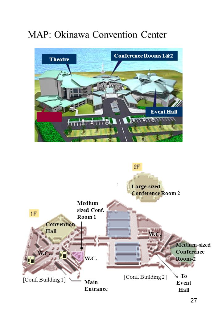 MAP: Okinawa Convention Center Med.-sized Conventio n Hall -1 Conference Rooms 1&2 Theatre Event Hall Main Entrance [Conf.