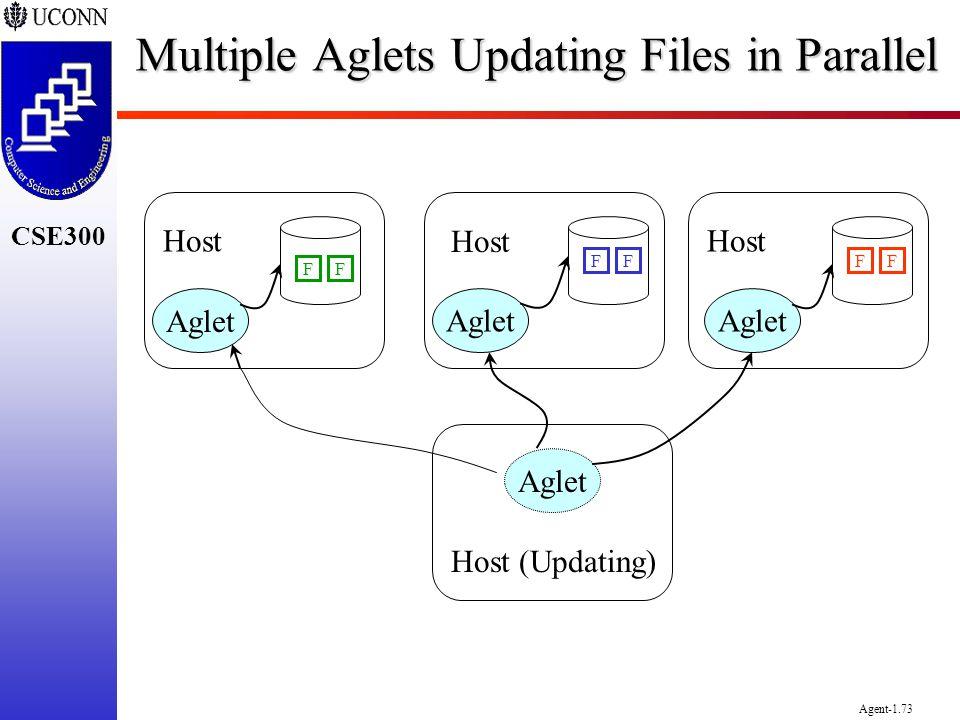 CSE300 Agent-1.73 Multiple Aglets Updating Files in Parallel Aglet Host (Updating) Host FFFFFF