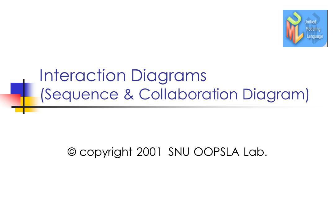 Interaction Diagrams (Sequence & Collaboration Diagram) © copyright 2001 SNU OOPSLA Lab.