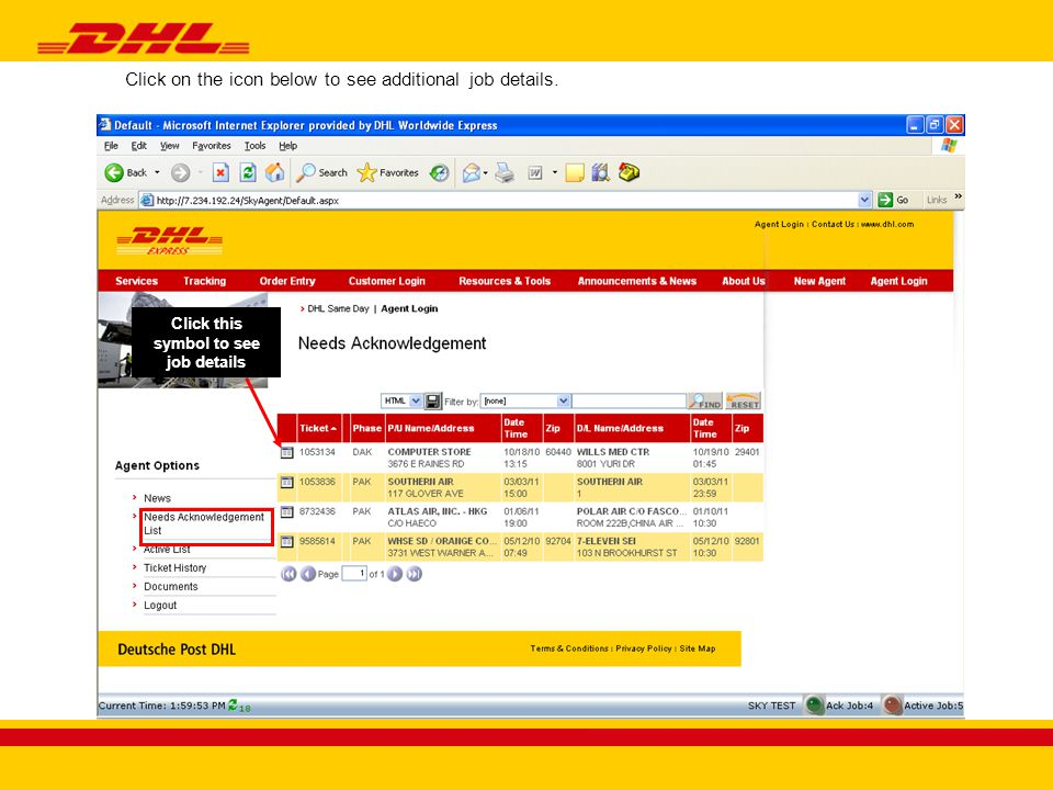 Click Edit to enter air waybill information.