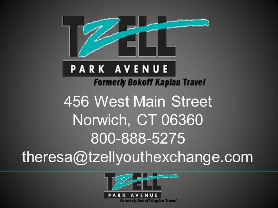 456 West Main Street Norwich, CT 06360 800-888-5275 theresa@tzellyouthexchange.com