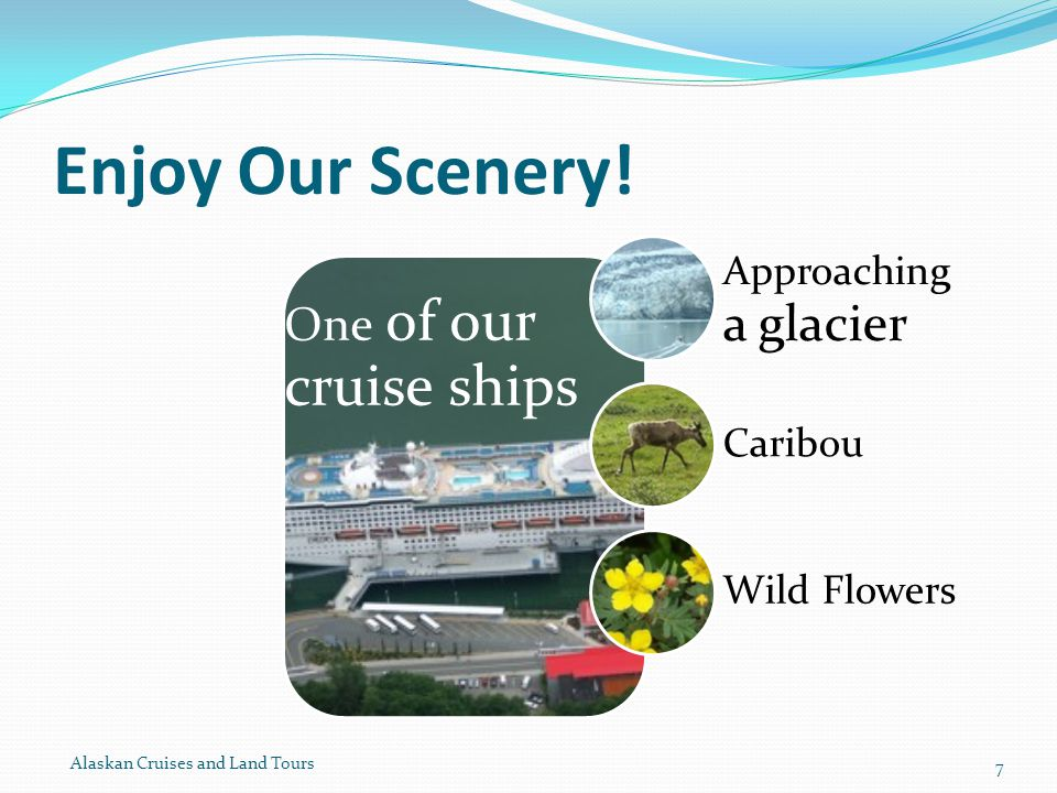 Enjoy Our Scenery! Alaskan Cruises and Land Tours 7
