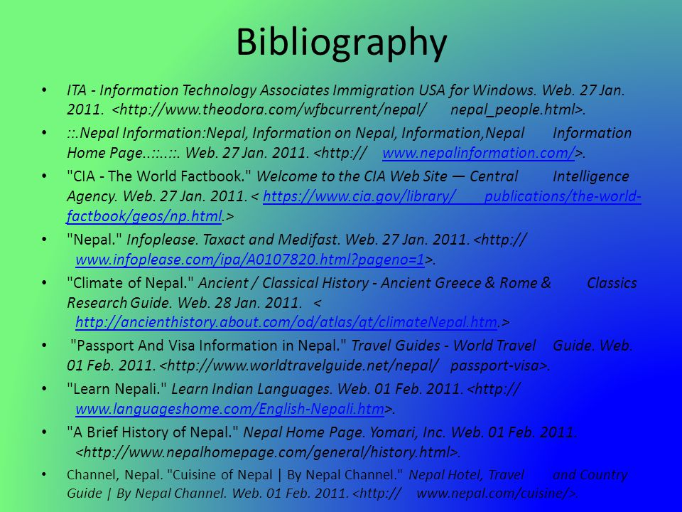 Bibliography ITA - Information Technology Associates Immigration USA for Windows. Web. 27 Jan. 2011.. ::.Nepal Information:Nepal, Information on Nepal