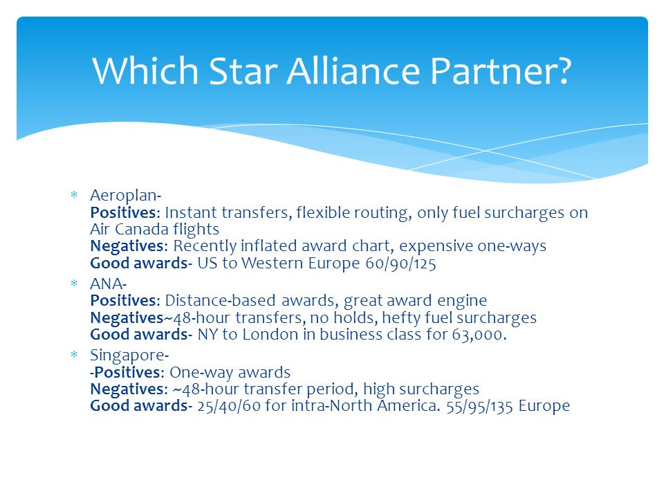 British Airways- Instant transfers, region-based awards.