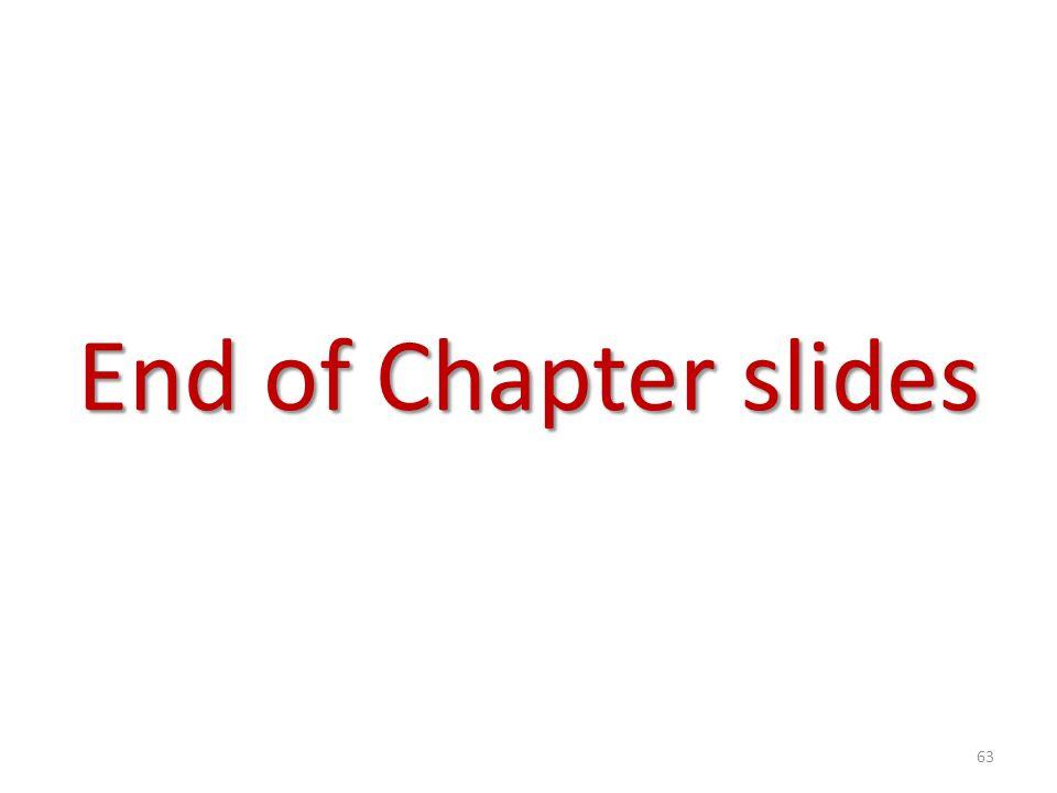 End of Chapter slides 63