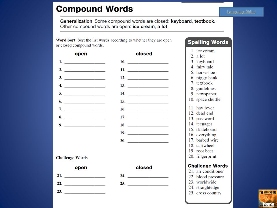Spelling Strategy Divide and Conquer Compound Words: Step 1: Draw a line between the base words of the compound words. Step 2: Study the compound word