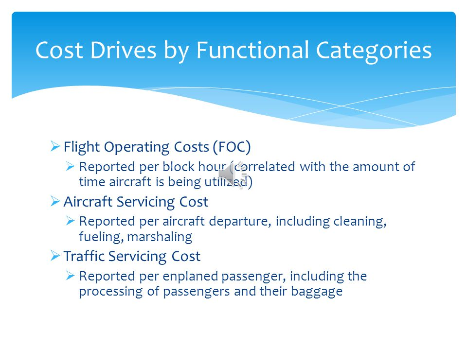 Overall, the structure of the cost allocation scheme is very similar. Comparison Between ICAO and Form 41 Cost Categories CategoryICAOForm 41 Maintena