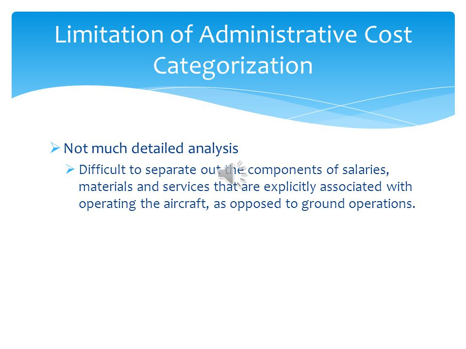 Administrative Cost Allocation Labors (Salaries) Materials Services