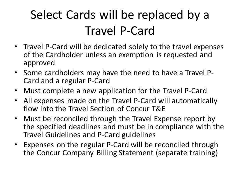 Travel Request Submitted through Concur T&E prior to the trip Associated with Expense Report after completion of the trip Must be properly authorized and funded