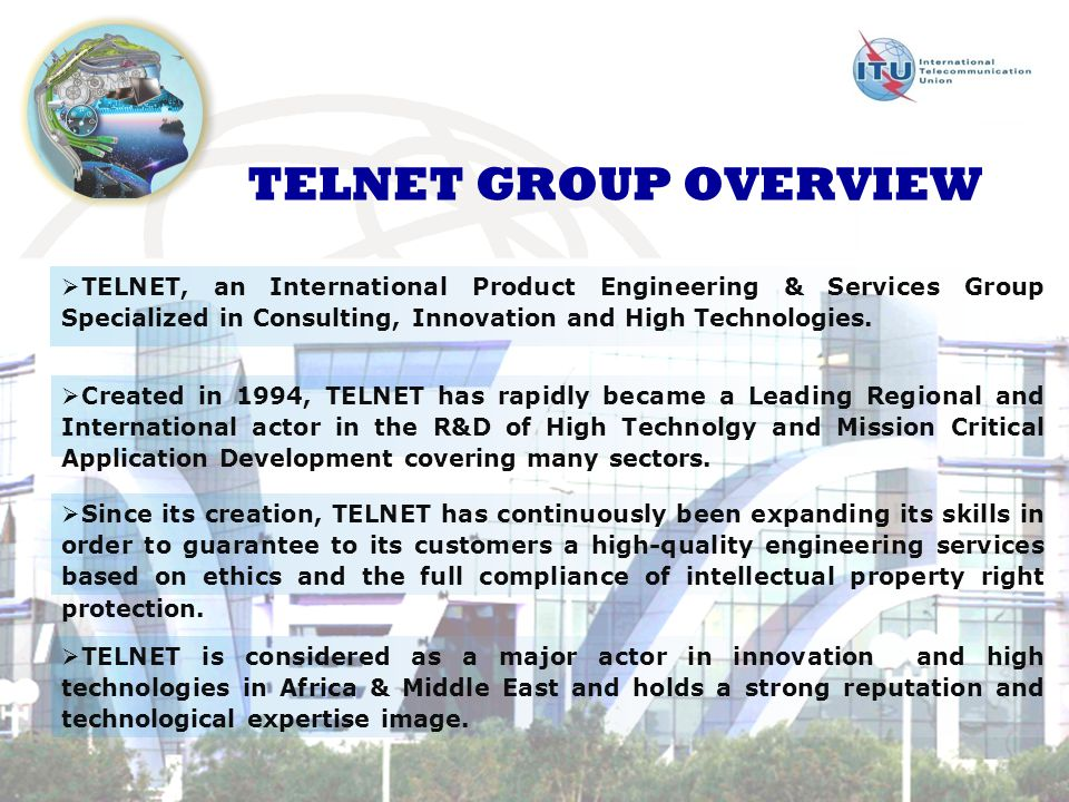 TELNET, an International Product Engineering & Services Group Specialized in Consulting, Innovation and High Technologies.