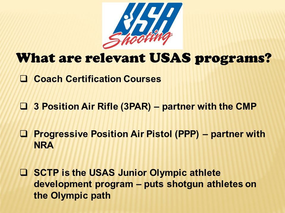 What are relevant USAS programs.
