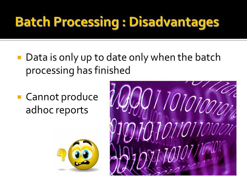 Criteria for choosing processing methods Things to consider when choosing a processing method: 1.