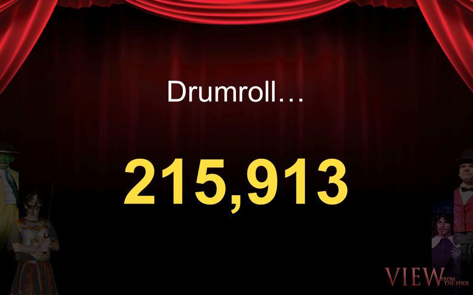Drumroll… 215,913