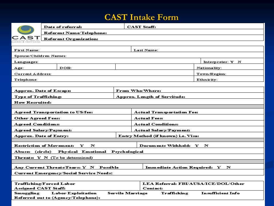 CAST Intake Form