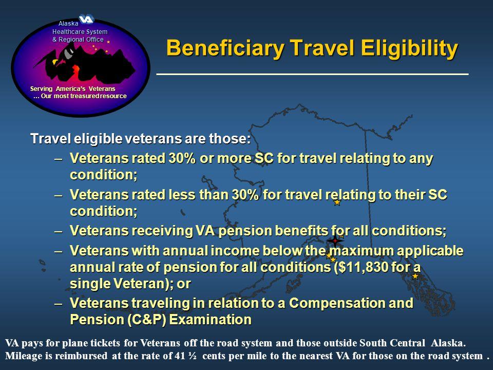 Alaska Alaska Healthcare System & Regional Office Serving Americas Veterans … Our most treasured resource … Our most treasured resource Beneficiary Tr