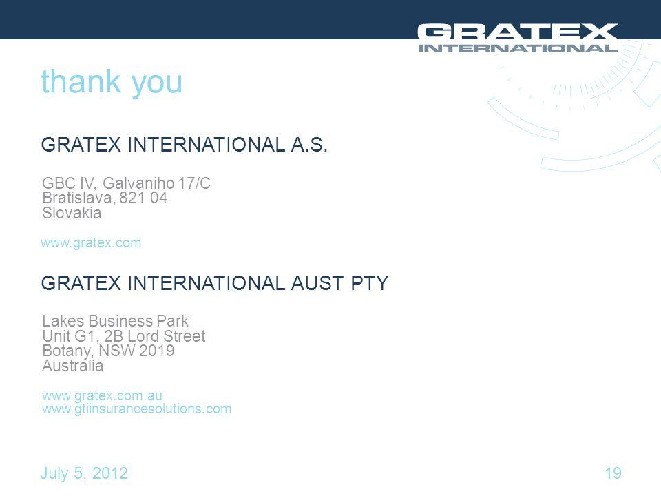 thank you GRATEX INTERNATIONAL A.S.