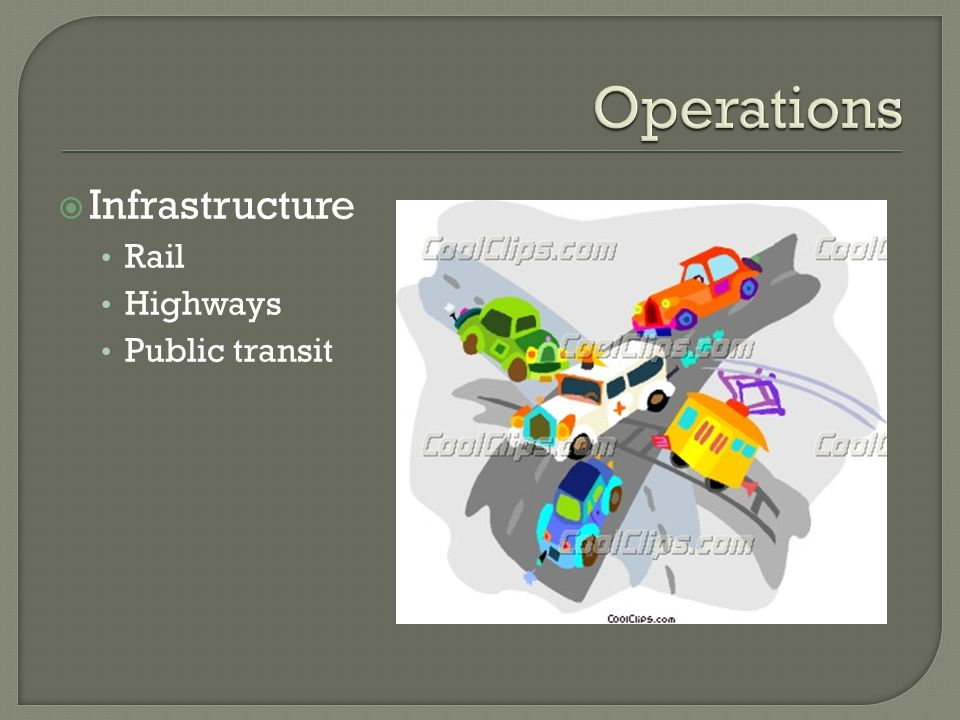 Infrastructure Rail Highways Public transit