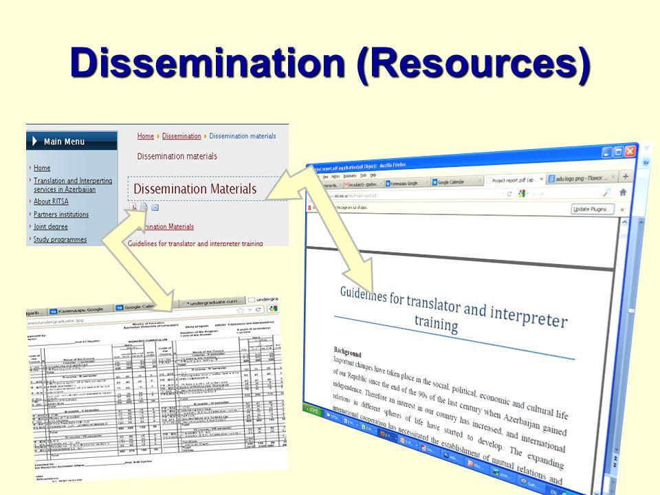 Dissemination (Resources)