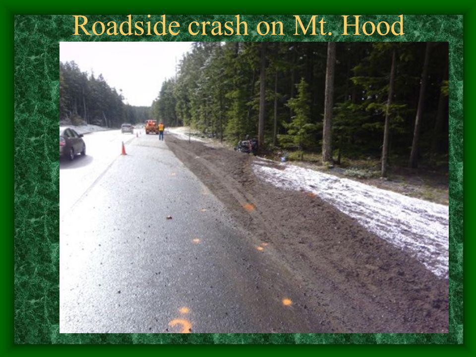 Sept 11, 2001 Roadside crash on Mt. Hood