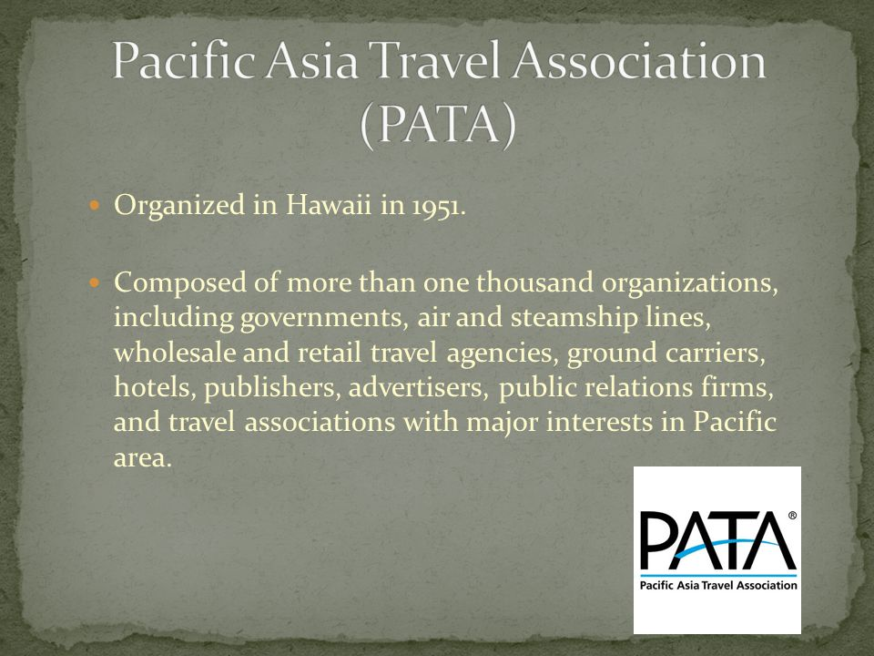 Organized in Hawaii in 1951. Composed of more than one thousand organizations, including governments, air and steamship lines, wholesale and retail tr