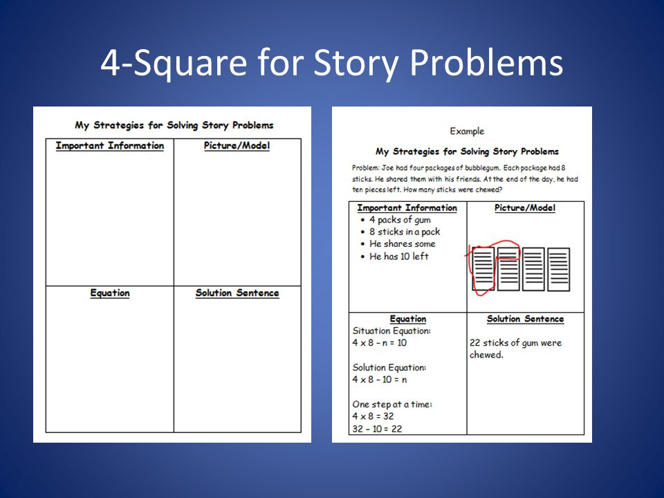 4-Square for Story Problems