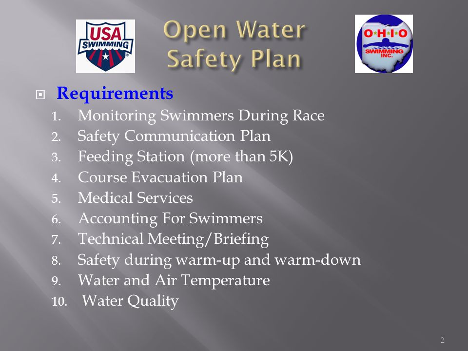 Requirements 1. Monitoring Swimmers During Race 2.