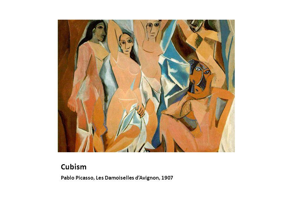 Cubism Pablo Picasso, Les Damoiselles dAvignon, 1907