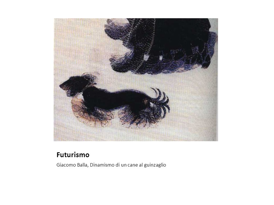 Futurismo Giacomo Balla, Dinamismo di un cane al guinzaglio