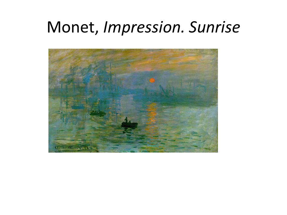 Monet, Impression. Sunrise