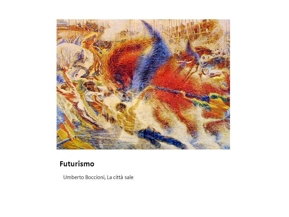 Futurismo Umberto Boccioni, La città sale