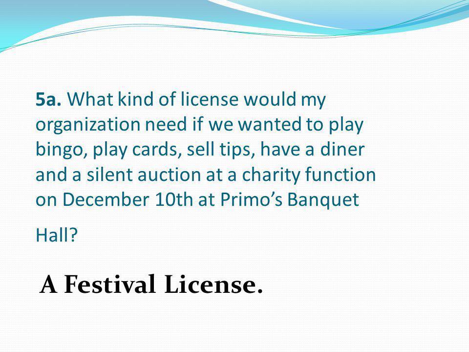 A Festival License.