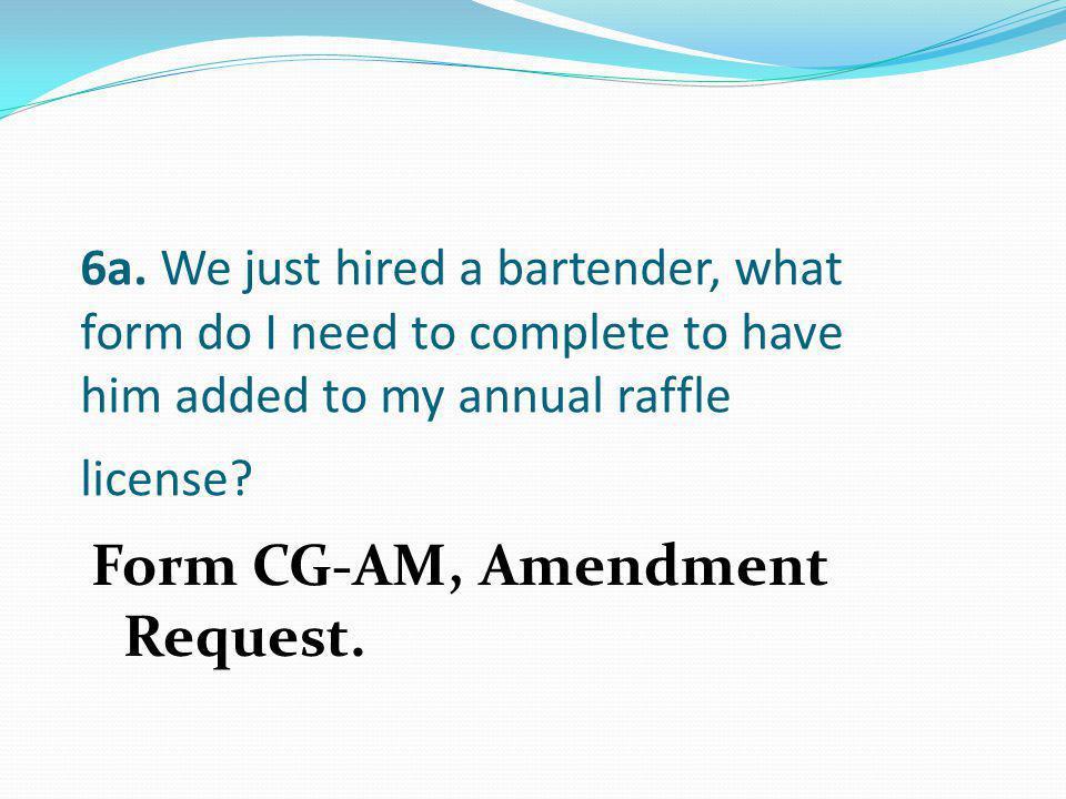 Form CG-AM, Amendment Request.