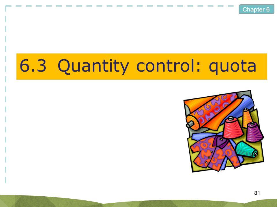 Chapter 6 6.3Quantity control: quota 81